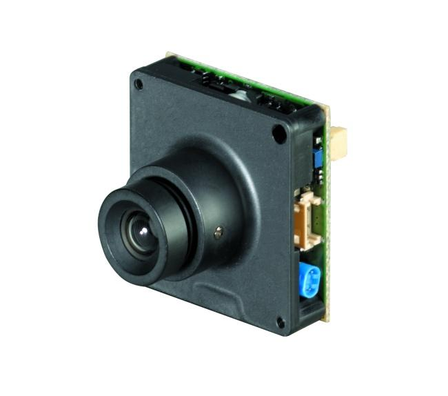 Ganz MM212 is a standard resolution colour and B&W board camera with 380 TVL