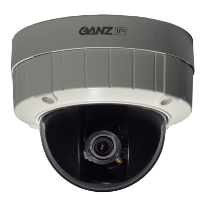 Ganz ZN-DT1A dome camera with P-iris technology for better depth of field and clarity