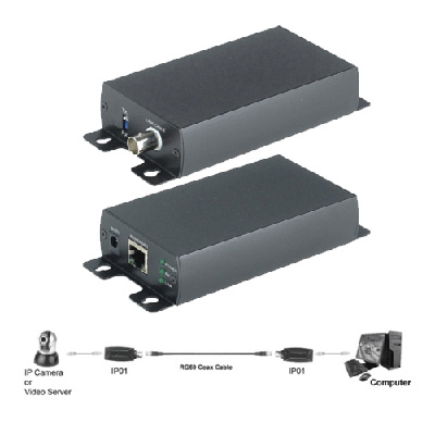 Genie CCTV Limited IP02 Active IP Extender Kit Coaxial Cable, DC 5V