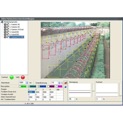 Geutebruck Video Motion Detection CCTV software with integrated picture-content monitoring