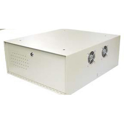 HAYDON HAY-LDVR2-F lockable large DVR enclosure with ceiling / wall mount and fan