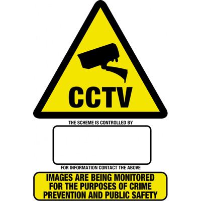 HAYDON HAY-WSA4 rigid CCTV warning sign