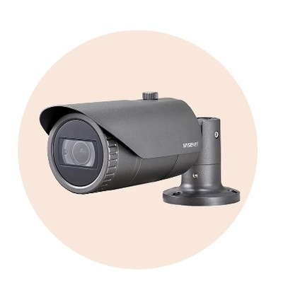 Hanwha Techwin America HCO-7070R 4MP Wisenet HD+ Bullet Camera
