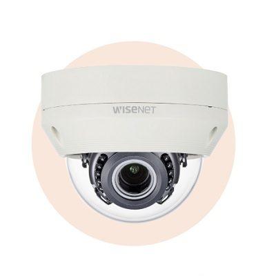 Hanwha Techwin America HCV-6070R 1080p Analog HD Vandal-Resistant IR Dome Camera