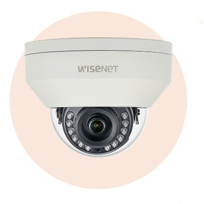 Hanwha Techwin America HCV-7030R QHD (4MP) Analog Vandal-Resistant IR Dome Camera