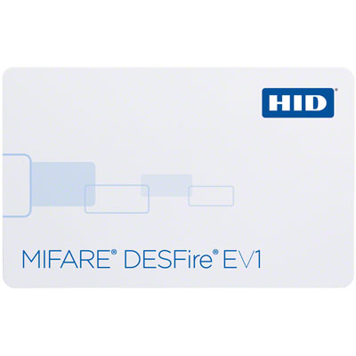 HID 1450 MIFARE DESFire EV1 card with multi-functional memory applications