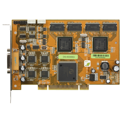 Hikvision DS-4004MDI PCI matrix decode board with 4-channel audio and video outputs