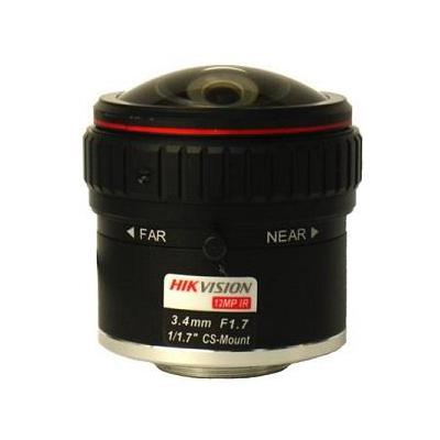 Hikvision HF3417D-12MPIR fixed focal DC auto iris 12MP IR lens