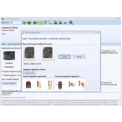 IDTECK FINGERPRINT ENROLLMENT PRO access control software with fingerprint quality check