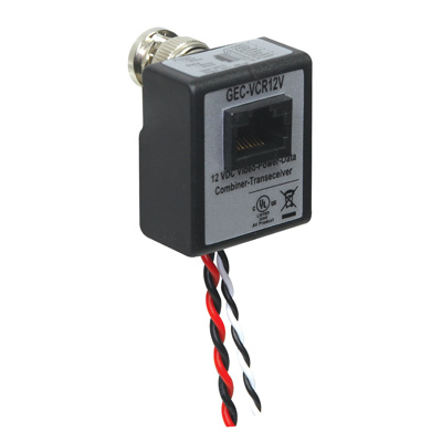 IFS GEC-VCR12V S UTP Passive Video-Data-Power Balun Combiner