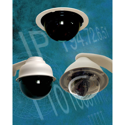 IndigoVision PTZ External IP Dome is a high-end professional PTZ IP Dome camera with image quality that is as good as or better than analog fixed domes