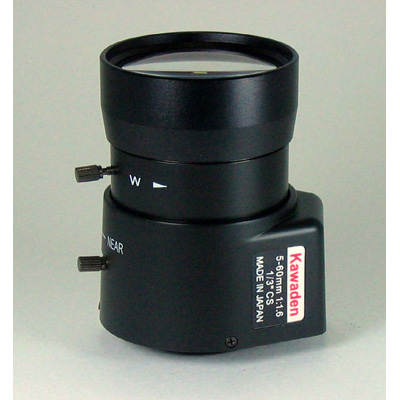 Kawaden KV0560D CCTV varifocal lens with DC auto iris and CS mount