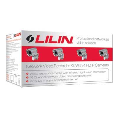 LILIN NVR-KIT712 outdoor HD network camera kit