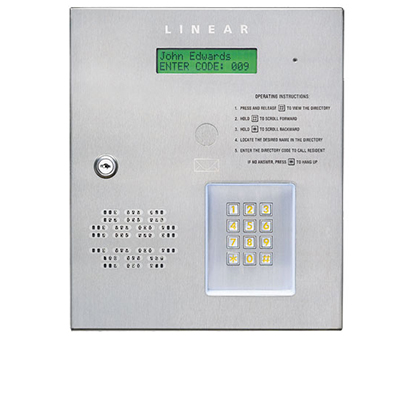 Linear AE-500 telephone entry for one or two doors/gates