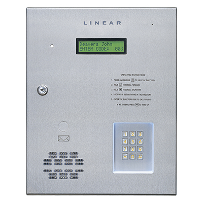 Linear AE1000Plus telephone entry for up to four doors/gates
