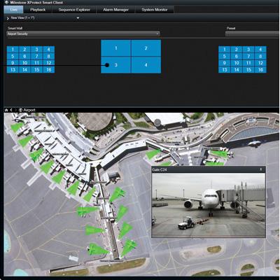 Milestone XProtect Smart Wall 1.0 advanced add-on video wall