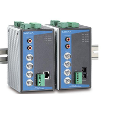 MOXA VPort 364 4 channel video encoder with advanced network security