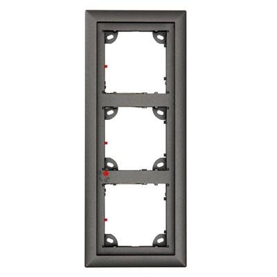 MOBOTIX MX-OPT-Frame-3-EXT-DG Triple Frame, Dark Gray