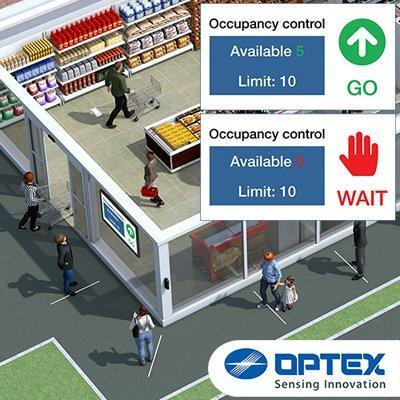 OPTEX real-time flow control people counter