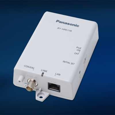 Panasonic BY-HPE11KT co-axial-LAN converter with PoE