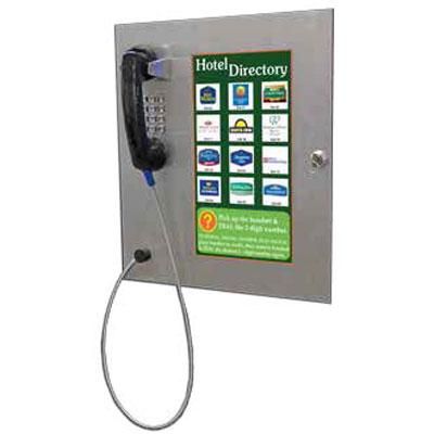 Parabit 900-00006 flush mounted directory phone with keypad