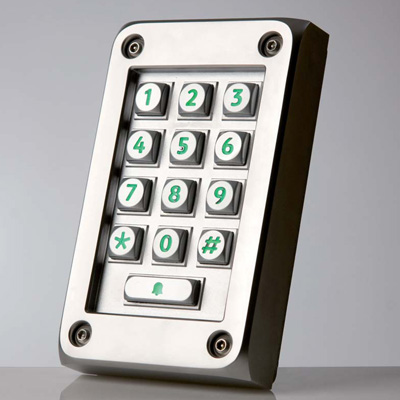 Paxton Access 521-583 vandal resistant compact metal keypad