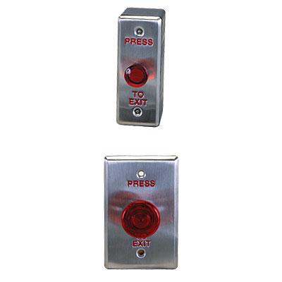 """PCSC PCSC Exit Devices illuminated """"Press to Exit"""" button"""