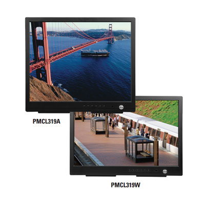 Pelco PMCL317 TFT LCD monitor with internal speakers optional rack, wall, ceiling mounts