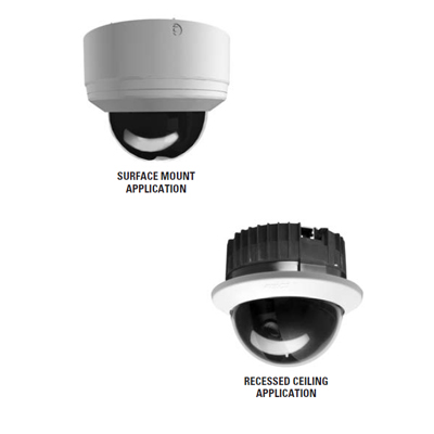 Pelco SD4-B1-X internal mini PTZ dome camera - surface mount