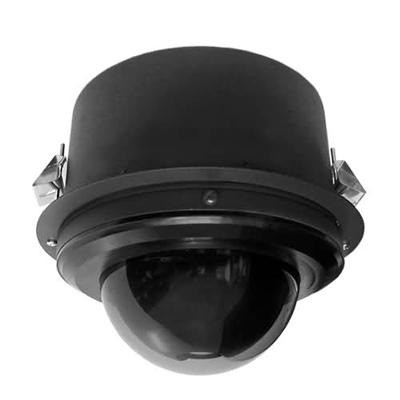 Pelco SD423-F-E1-X true day / night PTZ dome camera - flush mount black clear