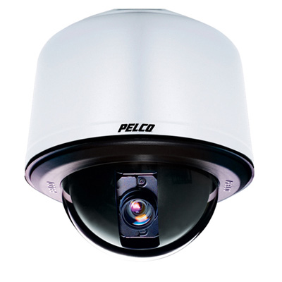 Pelco SD427-PG-E1-X true day / night external PTZ dome camera - pendant grey clear