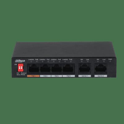 Dahua Technology PFS3006-4ET-60 6-Port 10/100Mbps Unmanaged Desktop Switch with 4 PoE Ports
