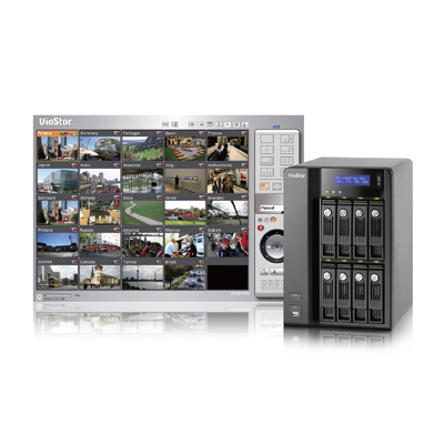 QNAP VS-8024 network video recorder with digital zoom for monitoring and playback