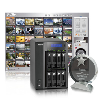 QNAP Security honoured new product of  the year Award Winner for VioStor VS-8040 Network Video Recorder