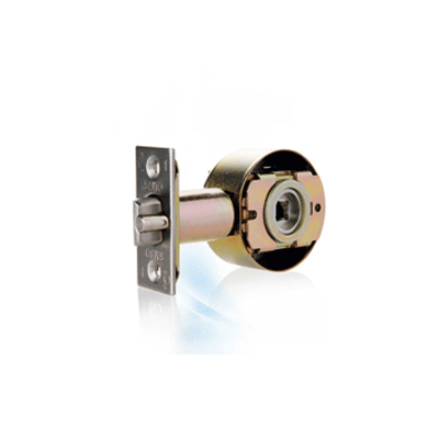 SALTO XS4 Cartdridge Cylindrical Latch electronic locking device with auxiliary latch (anticard) that deadlocks the latch