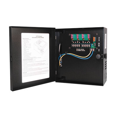 Hanwha Techwin America PWR-12DC-4-5 4 camera power supply