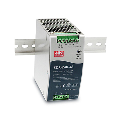 BCDVideo SDR-240-48 240W Single Output Industrial DIN RAIL with PFC Function