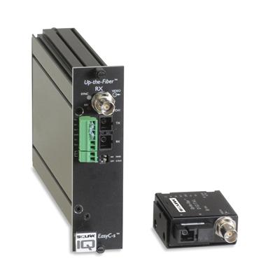 Siqura Up-the-Fiber™ 4200 SM 12 V DC miniature digital video transmitter