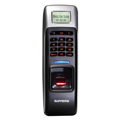 Suprema BioLite Solo is a standalone outdoor fingerprint lock