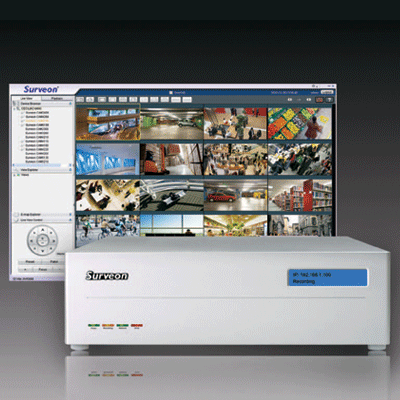 Surveon NVR1000-1032A network video recorder with E-map monitoring and management