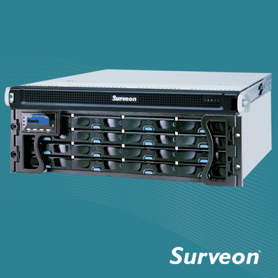 Surveon NVR2000-24B network video recorder with video privacy mask