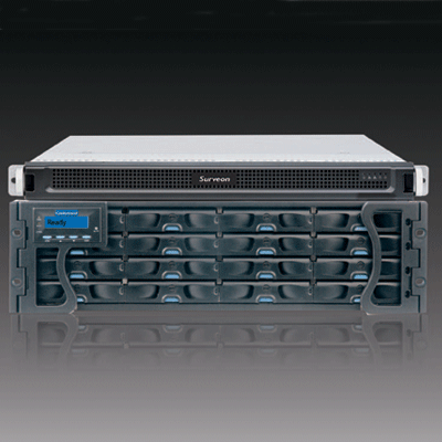 Surveon NVR2025-24B network video recorder with forbidden area and tampering detection