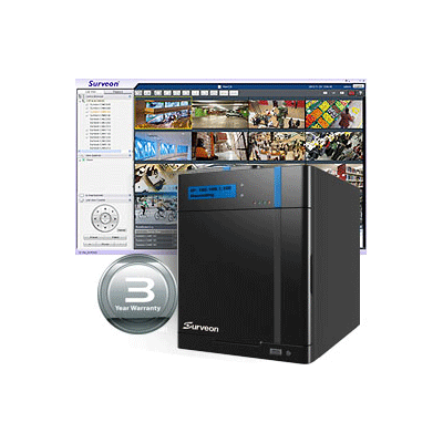 Surveon SMR2008 network video recorder with intrusion and tampering detection
