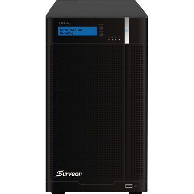 Surveon SMR6000H Hybrid-Megapixel RAID NVR Features High Performance & Easy Management