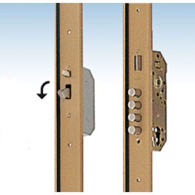 TESA CANB corner guard series lock with standard 50 mm backset