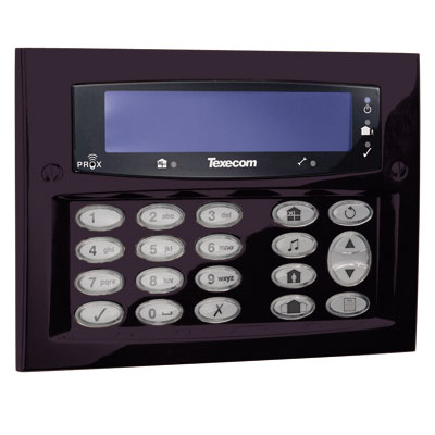 Texecom Premier Elite flush and surface mount keypad with 2 zone inputs