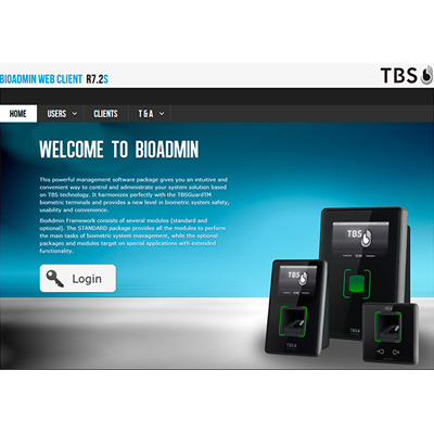 Touchless Biometric Systems (TBS) BIOMANAGER Web-based Management Software