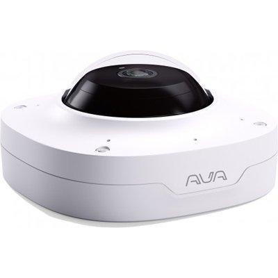 Ava V-CAM-PANO-12MPW 360° fisheye panoramic IR camera. White finish.