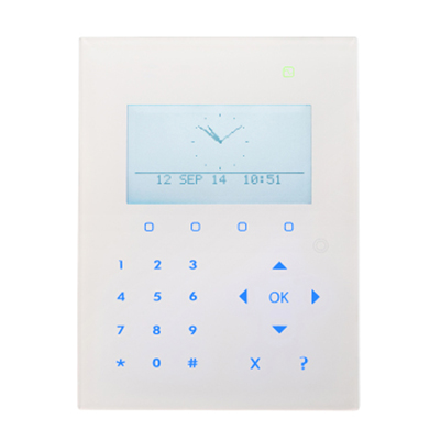 Vanderbilt SPCK521 compact keypad with graphical display, card reader and audio