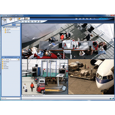 Verint Nextiva Review CCTV software with interactive map display of facility layouts and camera locations